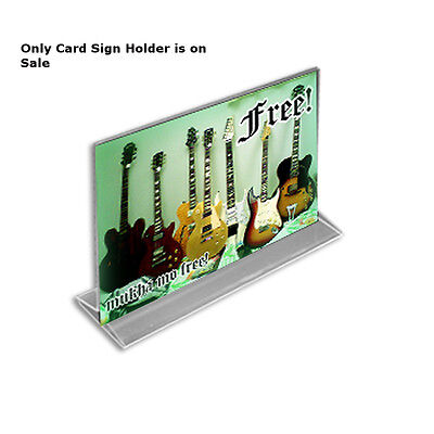 Acrylic Clear 2 Sided Sign Holder 8.5W x 5.5H Inches - Lot of 10