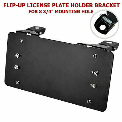 Metal Winch License Plate Mounting Bracket Holder For With Roller Fairlead