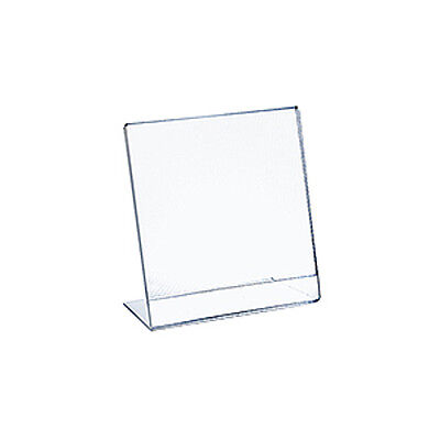Acrylic Clear L-Shaped Sign Holder 8.5W x 11H Inches - Box of 10