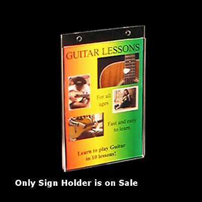 Acrylic Wallmount Sign Holder 5W x 7H Inches- Count of 10