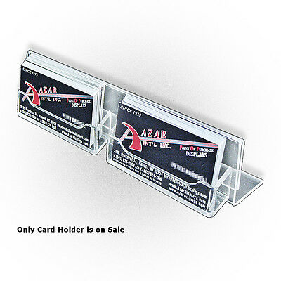 Acrylic Clear L- Shaped Sign Holder8.5W x 2H Inches - Case of 10