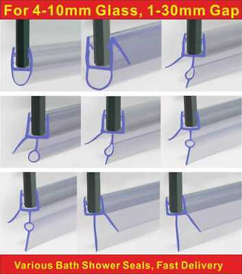 Rubber Plastic Shower Screen Seal Strip For 4-10mm Curved Flat Glass Bath Door
