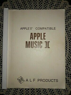 RARE Apple MUSIC II OWNER'S MANUAL, ALF PRODUCTS, 1980
