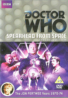 Doctor Who: 3rd Dr SPEARHEAD FROM SPACE New but UNSEALED Region 4 Jon Pertwee