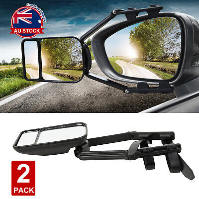 2x Towing Mirror Clip Universal Multi Trailer Caravan Car Truck Vehicle 4WD J