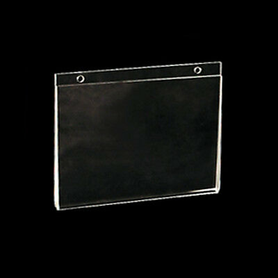 Acrylic Wallmount Sign Holder 7W x 5.5H Inches- Lot of 10
