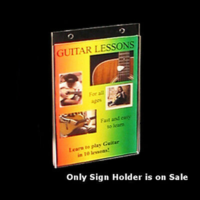 Acrylic Wallmount Sign Holder 5.5W x 7H Inches- Case of 10