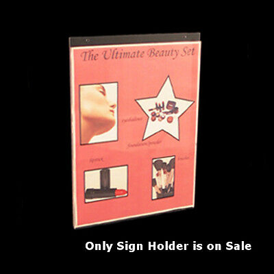 Clear Acrylic Vertical Wall Mount Sign Holder 11W x 14H Inches- Pack of 10