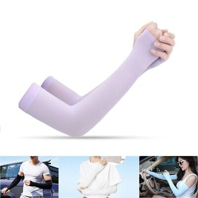 1Pair Cooling Arm Sleeves Stretchy Cover UV Sun Protection Outdoor Sports Unisex