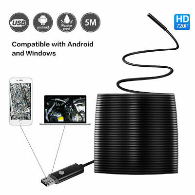 15FT USB Endoscope Borescope 6 LED Waterproof Snake Camera For Android Samsung