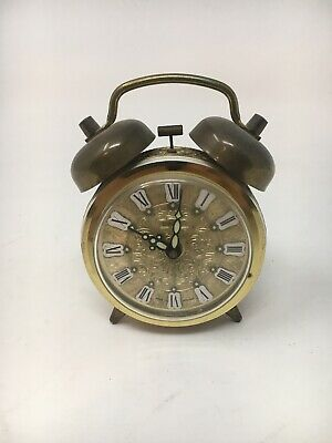 VINTAGE ALARM CLOCK Peter Wind Up German Desk Clock
