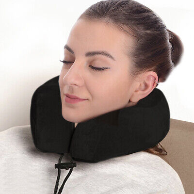 U Shaped Travel Pillow Neck Support Head Rest Cushion Eye Mask and Earplugs