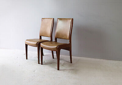 Set of six 1970's mid century G Plan dining chairs