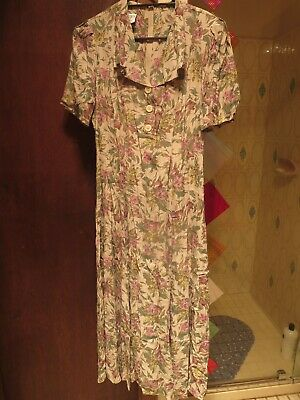 Laura Ashley, Beautiful Feminine Vintage Floral Print Dress - Size 12