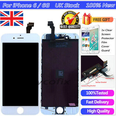 For iPhone 6 4.7'' White Screen Replacement Touch Digitizer LCD Display Assembly