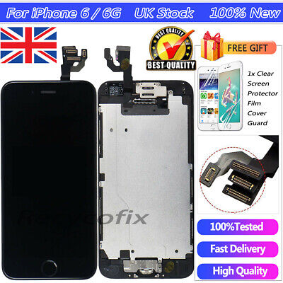 For iPhone 6 4.7'' Black Screen Replacement Touch Digitizer LCD Button Camera