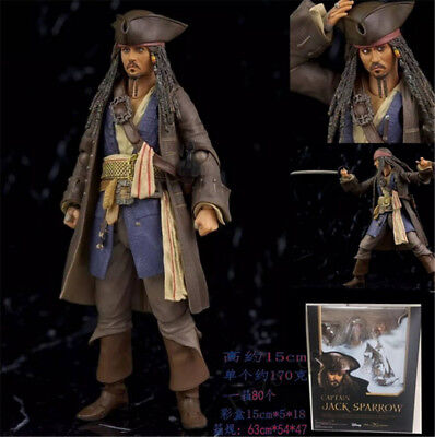 Pirates of the Caribbean Jack Sparrow 6 '' PVC  Figure Toy New Action Toy In Box