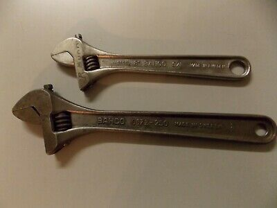 "2 x BAHCO shifters 10"", 8"" made in SWEDEN VG Used condition Vintage"