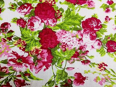 Cheap New Remnants Off Cut Fabric POLYCOTTON HOOT THE OWL /& FLOWER All Sizes