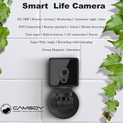 Camsoy S1 WiFi Mini Camera 1080P HD IP P2P Night Vision Remote Home Security Cam