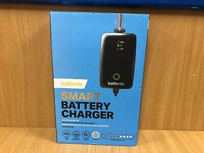 Halfords Smart Battery Charger One touch set up 4A  OL 97270