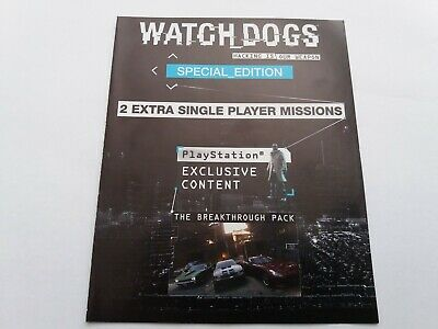 Watchdogs 2 Single Player Missions Special Edition DLC Content For UK Sony PS4