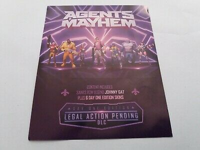 Agents Of Mayhem Day One 1 Edition Legal Action DLC Content For UK Sony PS4