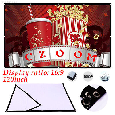 F727 Movie Screen Projector Cloth Screen Folded Projection Screen Outdoor