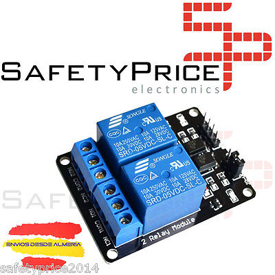 10x MODULO RELE 2 CANALES 5V 10A  ARDUINO ARM PIC AVR DSP RELAY RASPBERRY PI