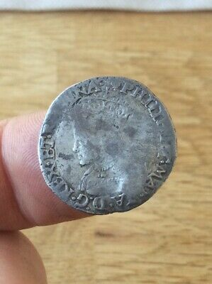 Philip & Mary Tudor Hammered Silver Groat, 1554-8, , im Lis, Spink 2508