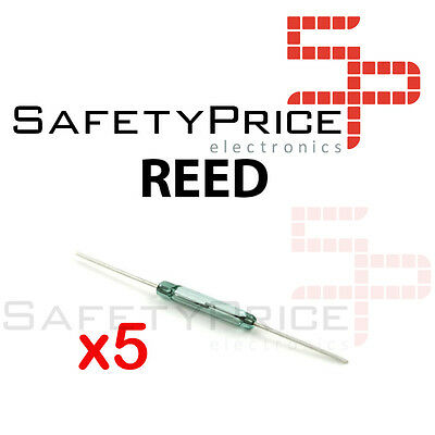 5x Interruptor Reed switch magnetico abierto NO open 14x2 cristal glass SP