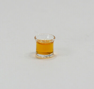 Dollhouse Miniature Double Whiskey in a Philip Grenyer Whiskey Glass