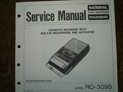 PANASONIC RQ-309S Cassette tape Recorder Service manual wiring parts diagram