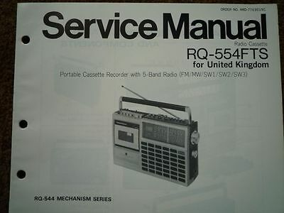 PANASONIC RQ-554FTS Radio Cassette Recorder Service manual wiring parts diagram