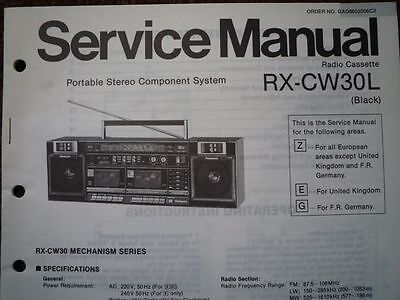 PANASONIC RX-CW30L Radio Cassette Recorder Service manual wiring parts diagram