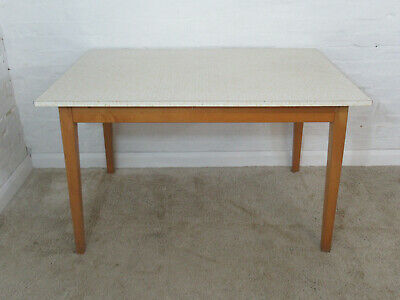 Vintage 1950s/1960s Formica Yellow & White Flower Design Kitchen or Dining Table