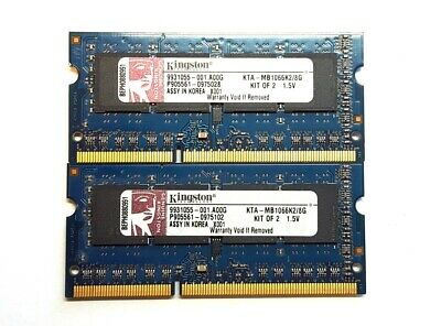 Kingston 8GB (2x4GB) DDR3 1066MHz 204pin So-Dimm Laptop Memory KTA-MB1066K2/8G