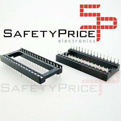 "5x Zocalo integrado 32 PINs DIP 32  Socket doble contacto 0,6 "" (15,24 mm)"