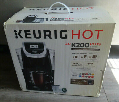 Keurig Hot 2.0 K200 Plus Single Serve K-Cup Coffee Maker Black