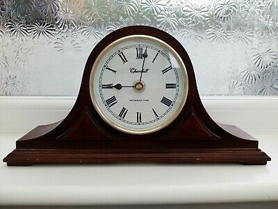 Churchill Napoleon Hat Westminster Chimes Wooden Mantle Clock
