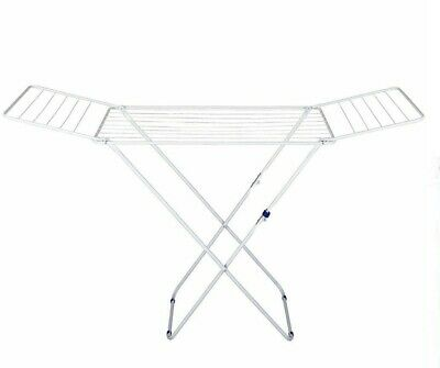 Foldable Laundry Cloths Airer Dryer Horse Washing Line Indoor Outdoor 18m Space