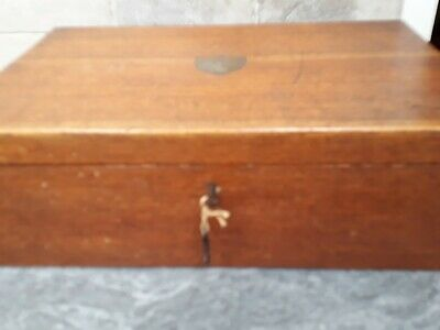 Empty large Antique/vintage Oak  Canteen Box Fitted For 12 Person Setting