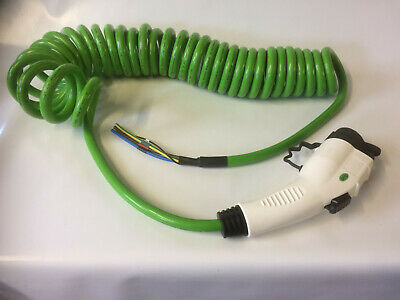 EV Charging Cable Type 1 32A Coiled Charge Cable 8.5 Meter Tethered Cable