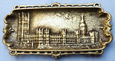 Late-19Th/Early 20Th Century Houses Of Parliament Brass Dish