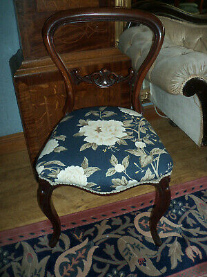 Victorian Rosewood Balloon Backed Chair