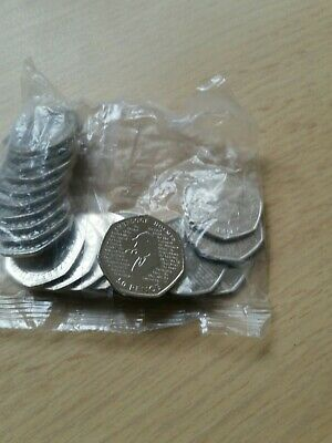2 Full Bag Sherlock Holmes 50p Coins.  Uncirculated (2019). .  Sealed.
