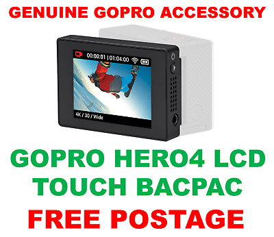 Genuine Official Gopro Lcd Touch Screen Bacpac For Hero 4, 3+ & 3 New Sealed Bn