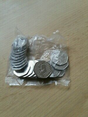 3 Full Bag Sherlock Holmes 50p Coins.  Uncirculated (2019). 20 Coins.  Sealed.