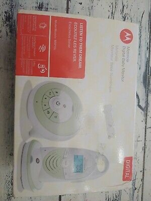 Motorola Digital Baby Monitor MBP15LBU Color Green And Beige New In It's Box
