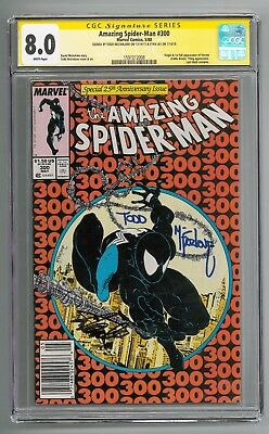 Amazing Spider-Man #300 signed by Stan Lee AND Todd McFarlane CGC 8.0 SS
